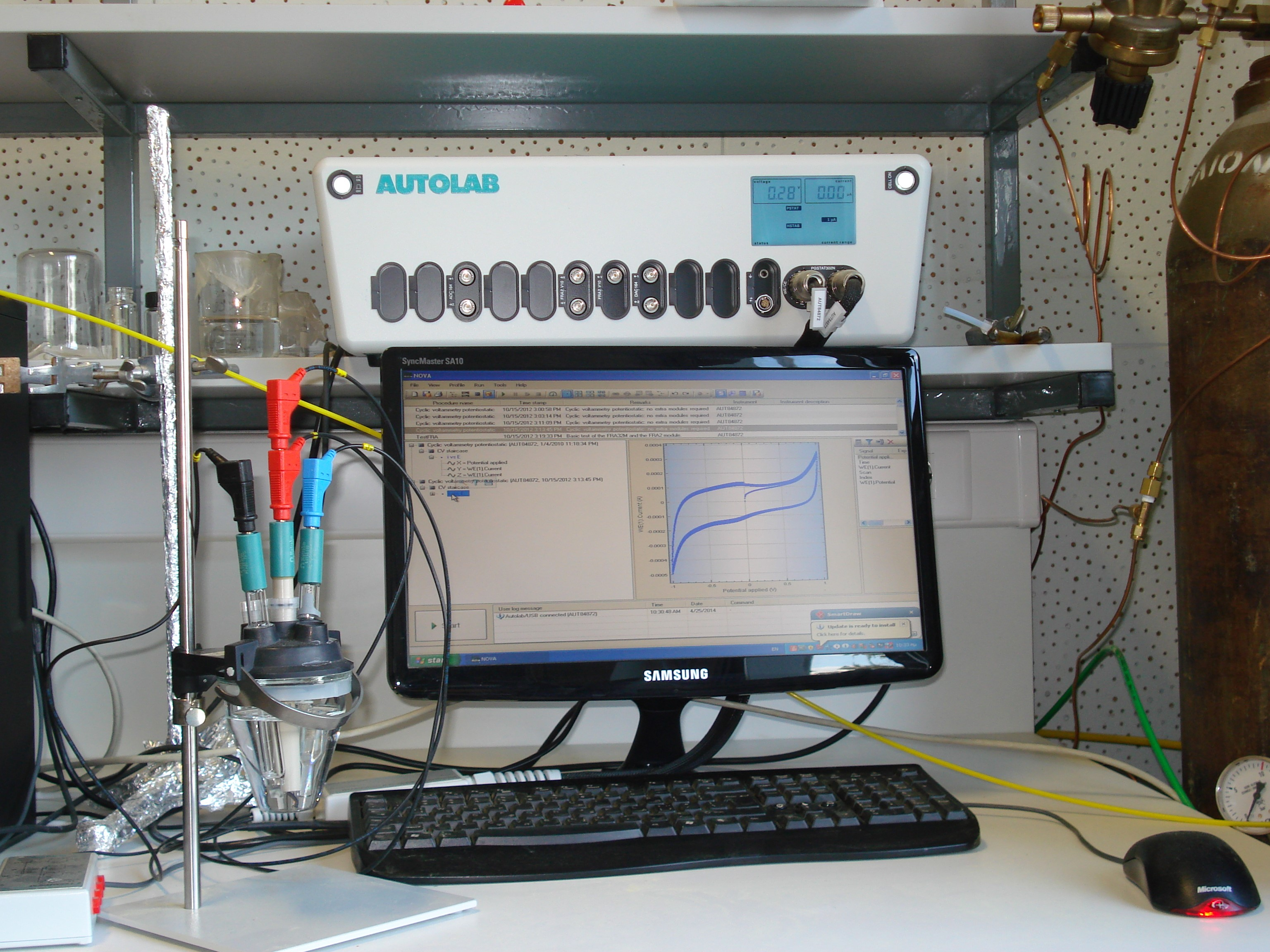 VersaSTAT MC analyser for electrochemical impedance spectroscopy (EIS), and cyclic voltammetry (CV) and Charge-Discharge Capacitance measurements